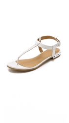 Marc By Marc Jacobs Punk Classic Flat Sandals Talc