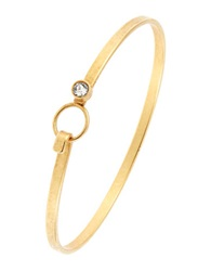 Gerard Yosca Rhinestone Bangle Bracelet Gold