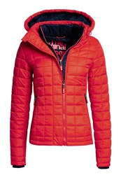 Superdry Hooded Box Quilt Fuji Jacket Red