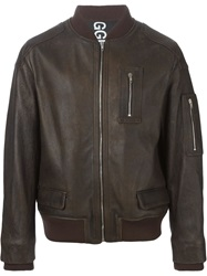 Golden Goose Deluxe Brand Bomber Jacket Brown