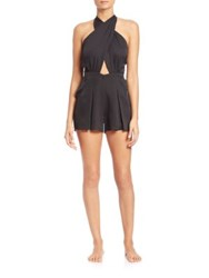 6 Shore Road Chiva Short Jumpsuit Black Rock