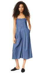 The Fifth Label Let's Dance Jumpsuit Chambray Polka Dot