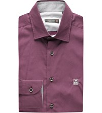 Corneliani Regular Fit Cotton Shirt Burgundy