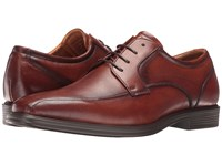 Florsheim Heights Bike Toe Oxford Cognac Smooth Men's Lace Up Bicycle Toe Shoes Neutral
