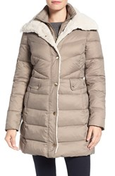 Kenneth Cole Women's New York Quilted Down Coat Thistle