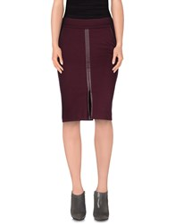 Guess By Marciano Skirts Knee Length Skirts Women Maroon