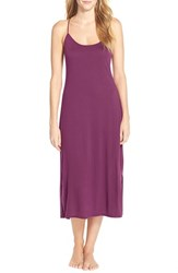 Women's Natori 'Shangri La' Knit Gown Imperial Purple