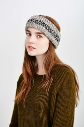 Urban Outfitters Ribbed Space Dye Boucle Earwarmer Grey Multi
