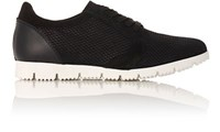 Barneys New York Women's Snakeskin Embossed Sneakers Black