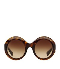 Dolce And Gabbana Cut Out Round Sunglasses Unisex