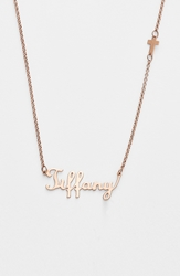 Argentovivo Personalized Script Name With Cross Necklace Nordstrom Online Exclusive Rose Gold