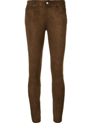 Paige Suede Effect Leggings Brown