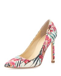 Ivanka Trump Carra Floral Print Pointed Toe Pump Floral Multi