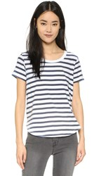 Splendid Sun Faded Stripe Tee Navy