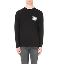 Stussy Printed Morning News Long Sleeved Top Black