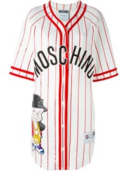 Moschino Looney Tunes Baseball Shirt Dress White