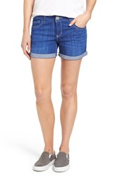 Women's Wit And Wisdom Roll Cuff Denim Shorts Nordstrom Exclusive