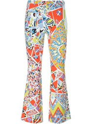 Emilio Pucci Stained Glass Print Trousers Multicolour