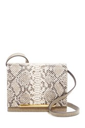 Brian Atwood Sadie Leather Crossbody Beige