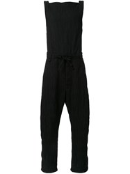Assin Jacquard Overall Trousers Black