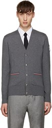 Moncler Gamme Bleu Grey Double Pocket Cardigan