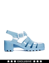 Juju Babe Pearl Blue Glitter Exclusive Heeled Sandals Pearlblueglitter