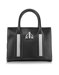 Dsquared Twin Peaks Black Leather Tote Bag