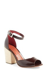 Rachel Comey Women's 'Coppa' Ankle Strap Sandal Bordo Satinado Leather