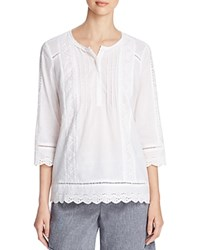 Nydj Summer Love Lace Blouse Optic White