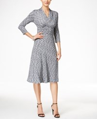 Styleandco. Style And Co. Printed A Line Dress Only At Macy's Gray