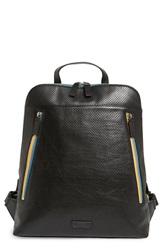 Ben Minkoff 'Samsen' Perforated Leather Backpack Black