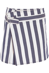 See By Chloe Striped Stretch Denim Mini Skirt