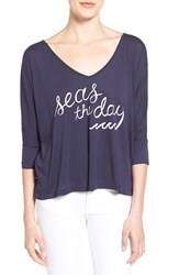 Women's Sol Angeles 'Seas The Day' Drapey V Neck Tee
