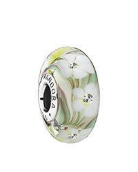 Pandora Design Pandora Charm Sterling Silver Cubic Zirconia And Murano Glass Wildflowers Moments Collection Multi