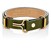 Giles And Brother Men's Narrow Visor Cuff Bracelet Green