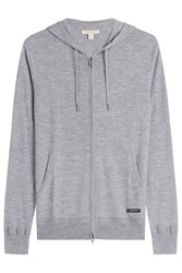 Burberry Brit Zipped Cashmere Cardigan Grey