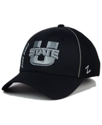 Zephyr Utah State Aggies Punisher Stretch Hat Black Silver