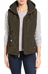 Michael Michael Kors Women's Sporting Hooded Vest Dark Olive