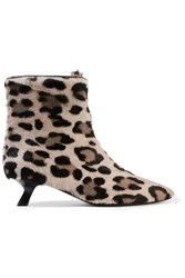 Tom Ford Leopard Print Calf Hair Ankle Boots Leopard Print