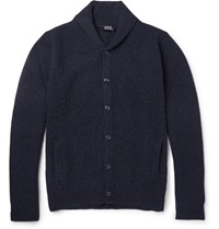 A.P.C. Shawl Collar Camel Cardigan Blue