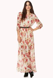 Forever 21 Peasant Floral Maxi Dress