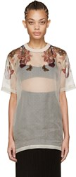 Givenchy Pink Floral Organza Blouse