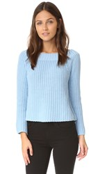 525 America Off The Shoulder Sweater Robins Egg