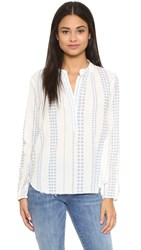 Current Elliott The Annabelle Blouse Daisy Stripe