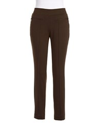 Rafaella Straight Legged Dress Pants Brown