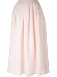 Rochas Full Long Skirt Pink And Purple