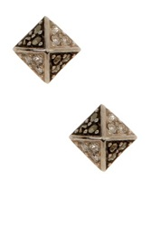 Judith Jack Sterling Silver Grande Lux Pyramid Stud Earrings Metallic