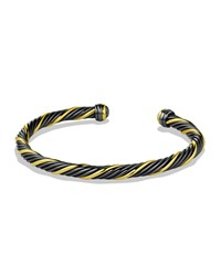 Black And Gold Cable Bracelet David Yurman Silver