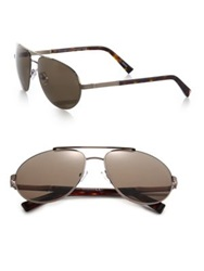 Ermenegildo Zegna 62Mm Aviator Sunglasses Bronze