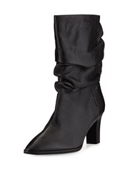 Adrianna Papell Noelle Ruched Mid Calf Boot Black